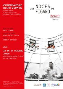 Conservatoire Henri Duparc : la représentation «Les Noces de Figaro» du samedi 24 Octobre est décalée à 18h