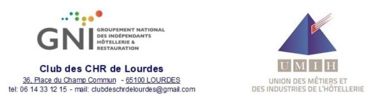 L'UMIH et le GNI/Club des CHR  présentent la feuille de route territoriale de Lourdes suite à la réunion en Préfecture
