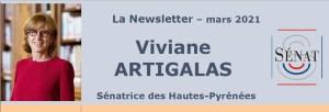 Lettre d'information de Viviane Artigalas, Sénatrice des Hautes-Pyrénées, pour le mois de mars 2021