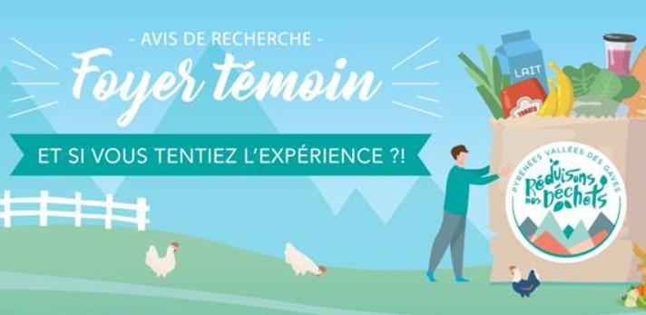 Communauté de Communes Pyrénées Vallée des Gaves : recherche «FOYER TÉMOIN» pour réduire ses déchets au quotidien