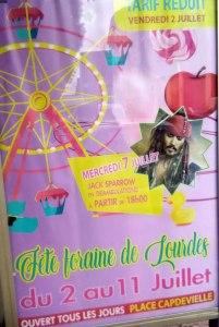 Lourdes : La Fête foraine débute ce vendredi 2 juillet avec en prime «Tarif réduit»
