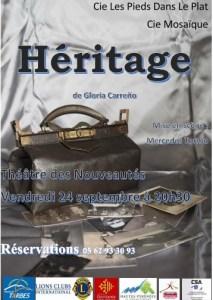 Read more about the article Tarbes : la Cie «Les pieds dans le plat» présente «L'héritage» au Théâtre des Nouveautés le 24 septembre