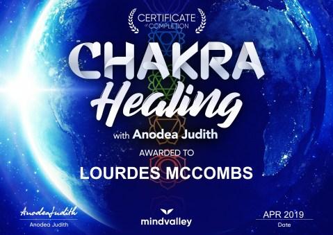 Chakra Healing Cert Lourdesigns