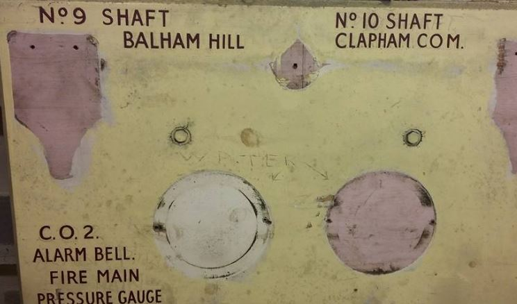 Power board from Clapham South shelter