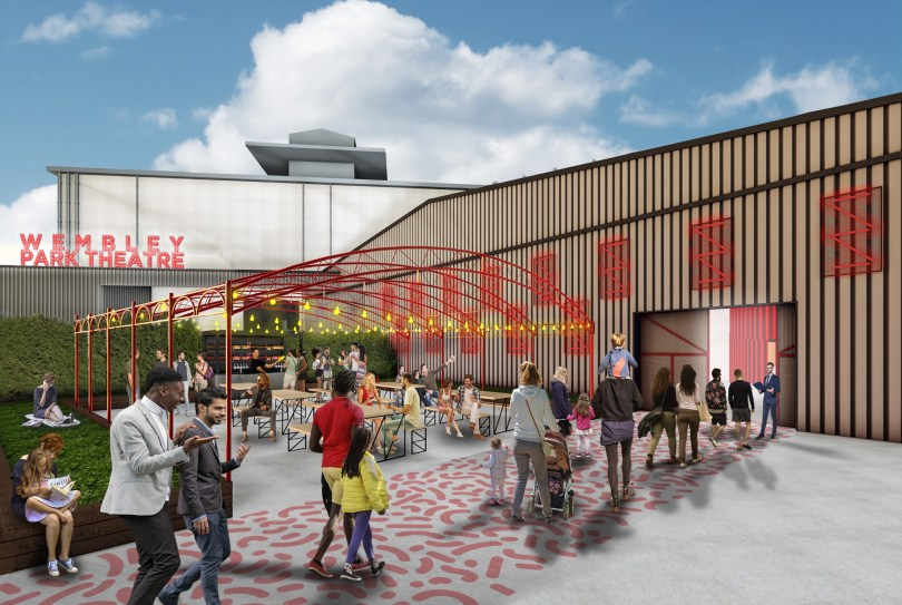 Artist impression of the new Troubadour Theatre in Wembley
