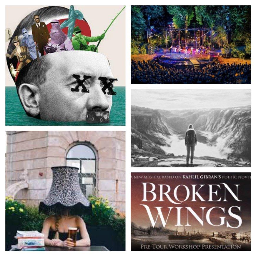 Operation Mincemeat, Evita, Pilgrims, Sexy Lamp, Broken Wings