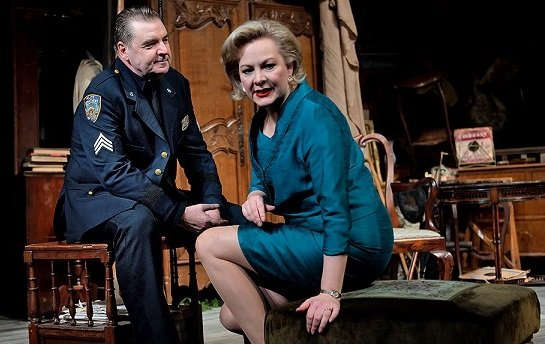 Brendan Coyle and Sara Stewart in The Price. Photo credit Nobby Clark.