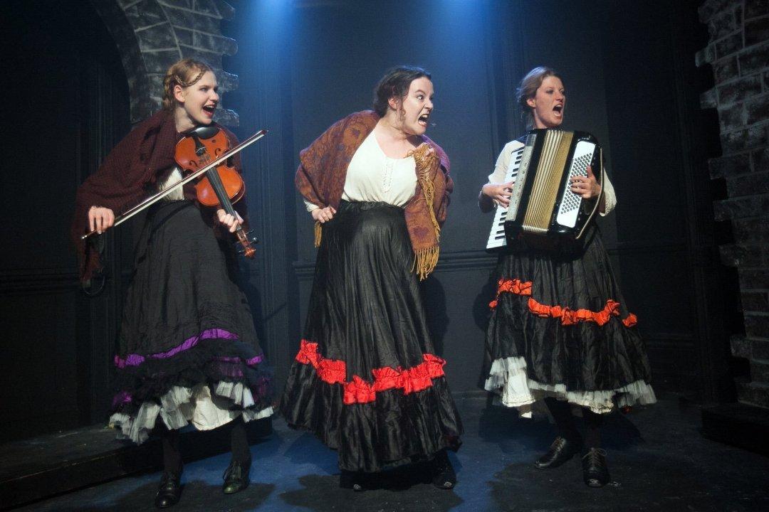 Rosa Lennox, Gabi King and Helen Potter as the good-time girls