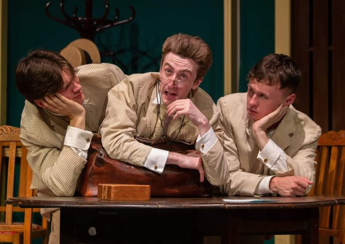 Bradley Peake, Tony Sears and Joshua Perry in Charley's Aunt