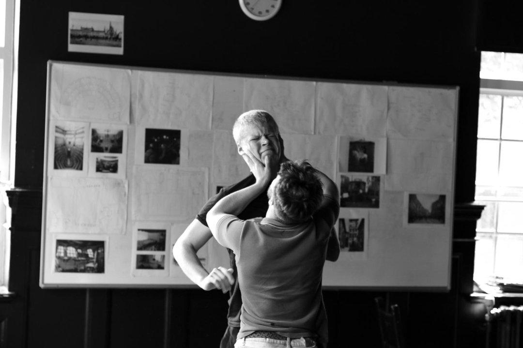 Rehearsal photo for Woyzeck