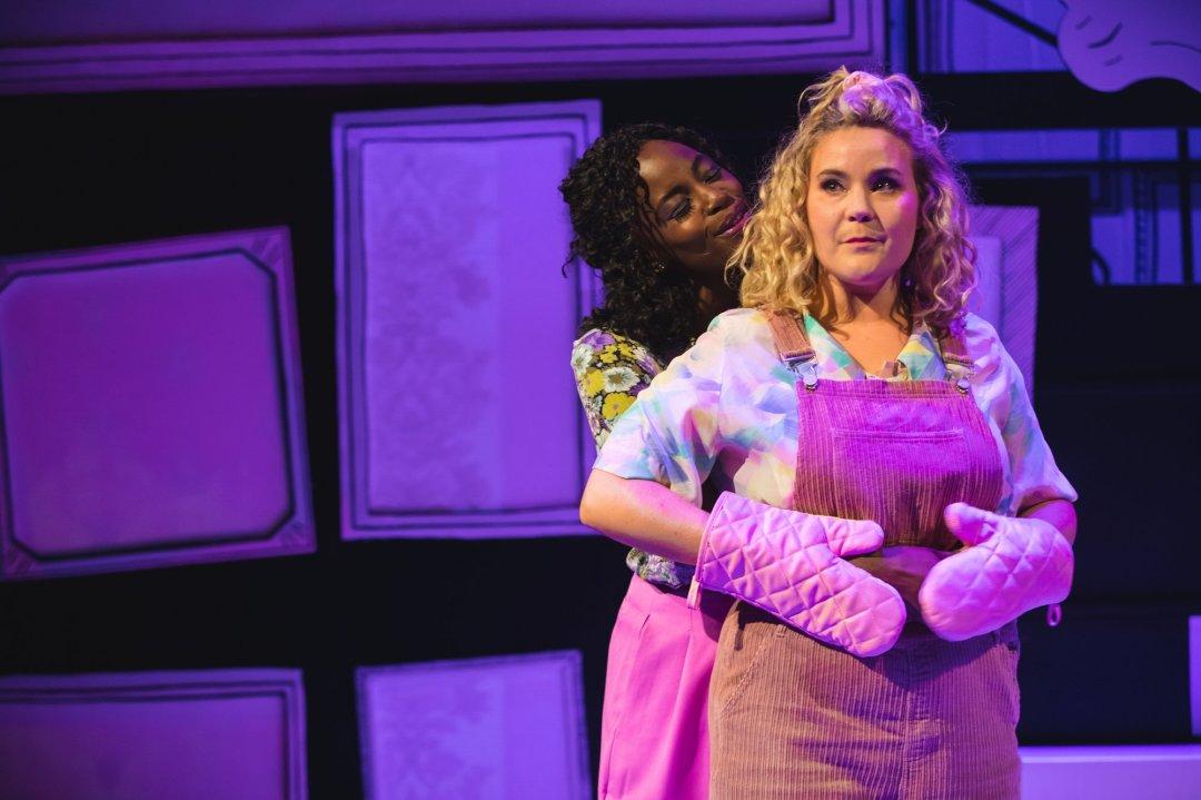 Gemma Knight-Jones and Natasha J Barnes as Charlotte and Cordelia in Falsettos