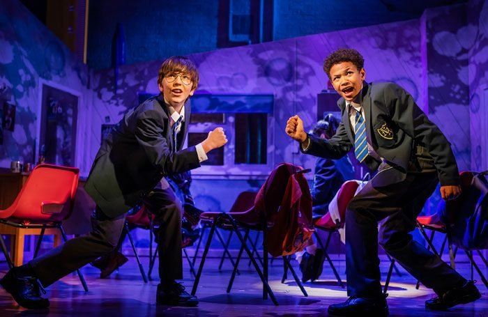 Michael Hawkins and Cuba Kamanu in The Secret Diary of Adrian Mole