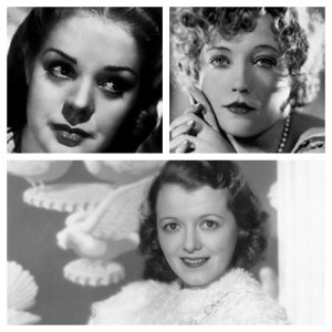 From top left, clockwise, Alice Faye, Marion Davies, Janet Gaynor