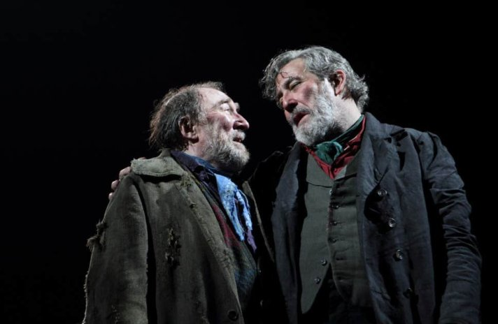 Dermot Crowley as Jimmy Jack and Ciaran Hinds as Hugh in Translations