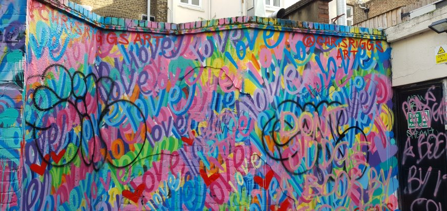 All You Need Is Love by Chris Riggs, with additional vandalism