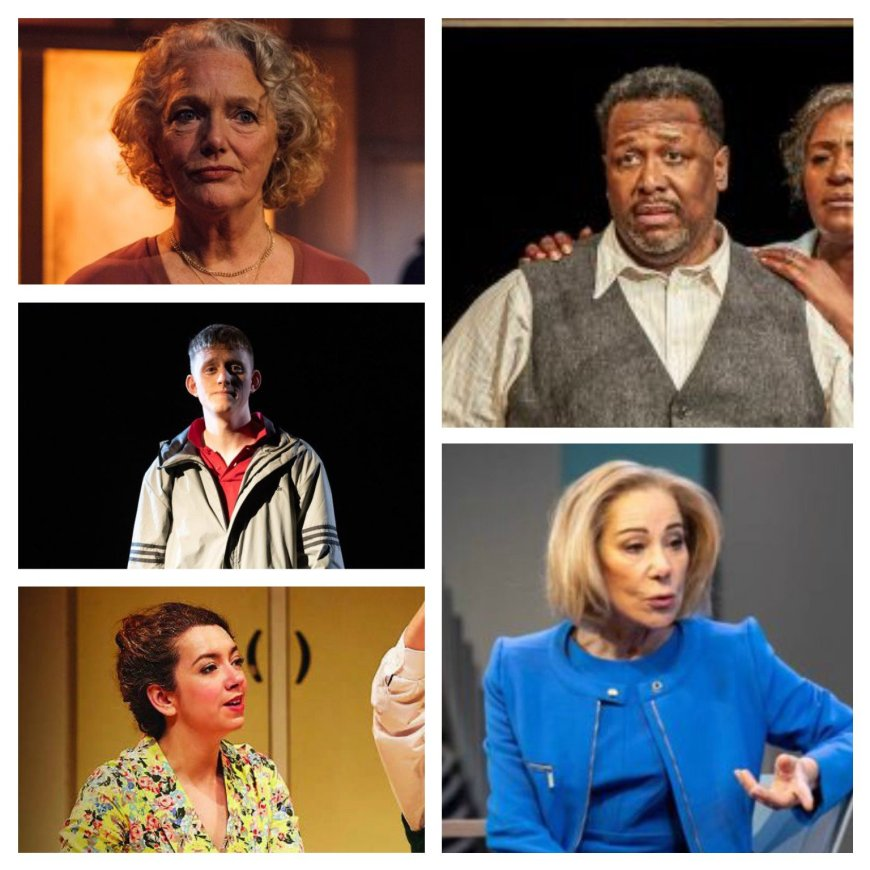 From top left, clockwise: Louise Jameson, Wendell Pierce, Zoe Wanamaker, Lizzie Muncey, Lorn Macdonald