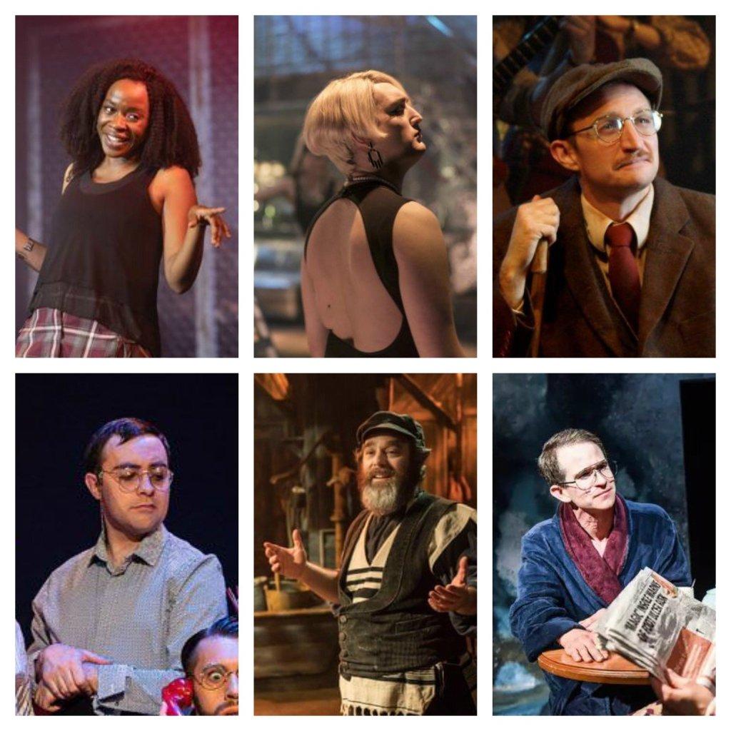 Top row: Jeannette Bayardelle, Jo Eaton-Kent, James Marlowe. Bottom row: Jak Malone, Andy Nyman, George Rae.