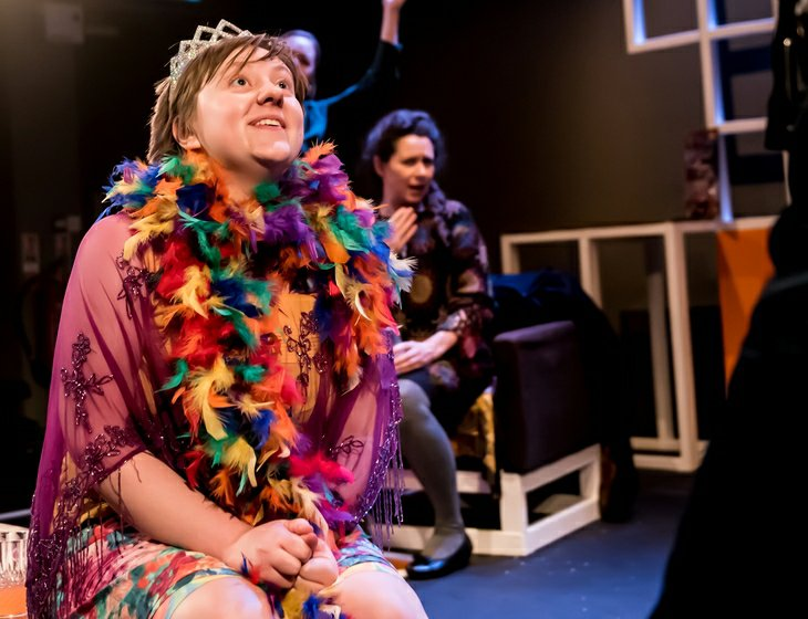 Charlie Bence and Sioned Jones in Martha, Josie and the Chonese Elvis