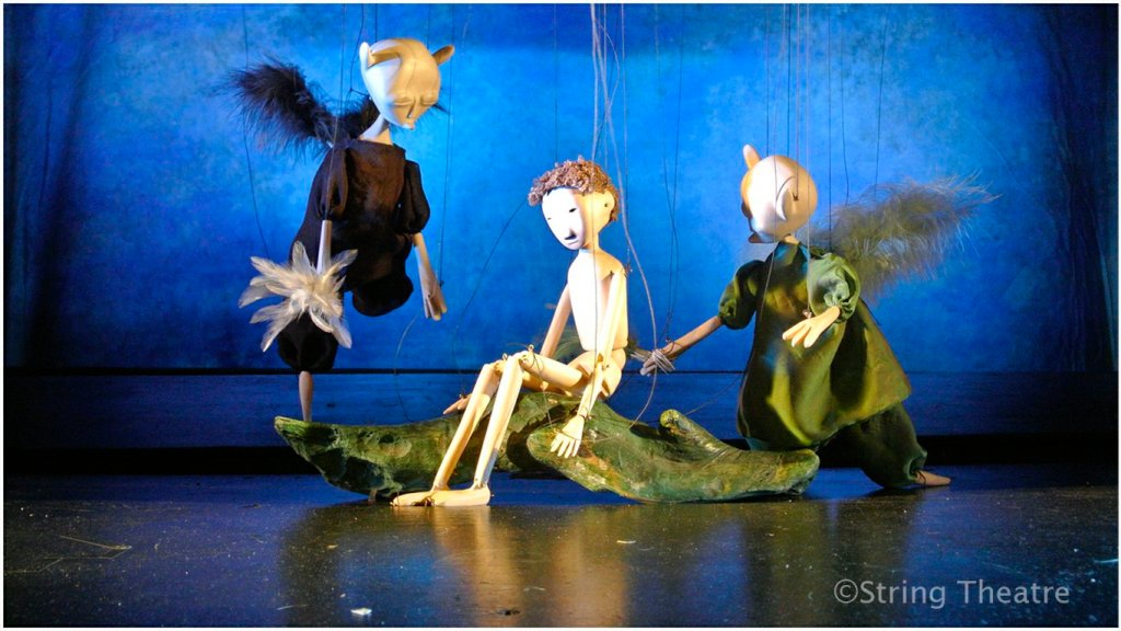 Tom and fairies in The Water Babies. Image copyright String Theatre.