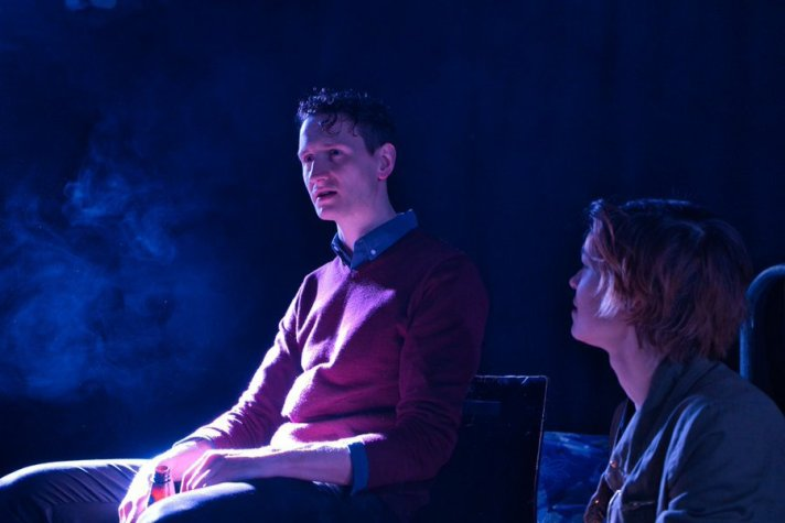 Robert Bradley and Lucy Roslyn in Life and Death of a journalist. Image by Ming Cheng