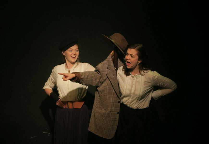 Amelia Gabriel and Amy Parker in Ride. Courtesy Bottle Cap Theatre.