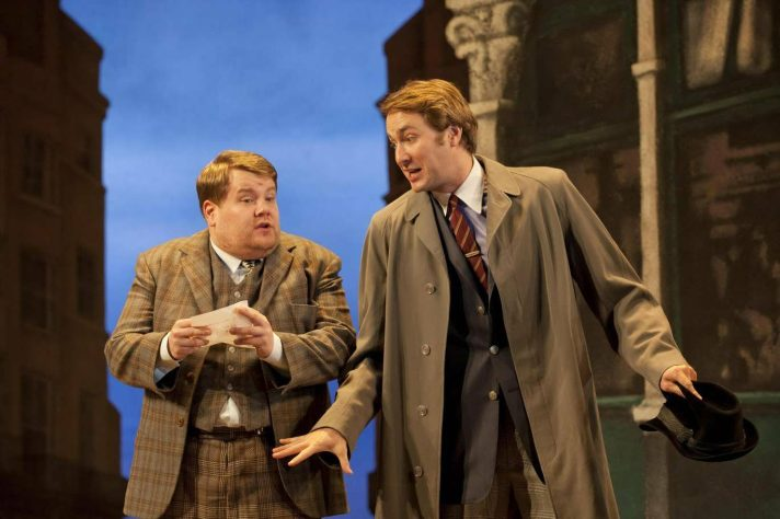 James Corden and Oliver Chris in One Man Two Guvnors