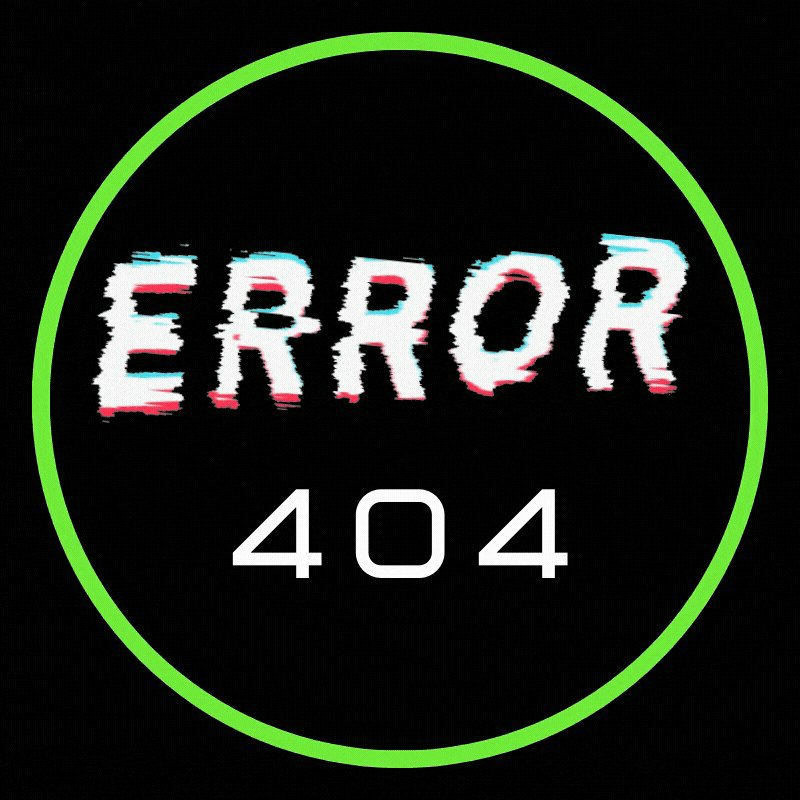 Error 404 logo