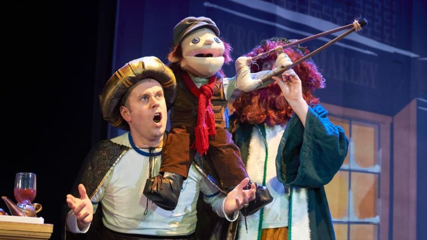 "Jeff Turner, ""Tiny Tim"" and Dan Clarkson in Potted Panto"