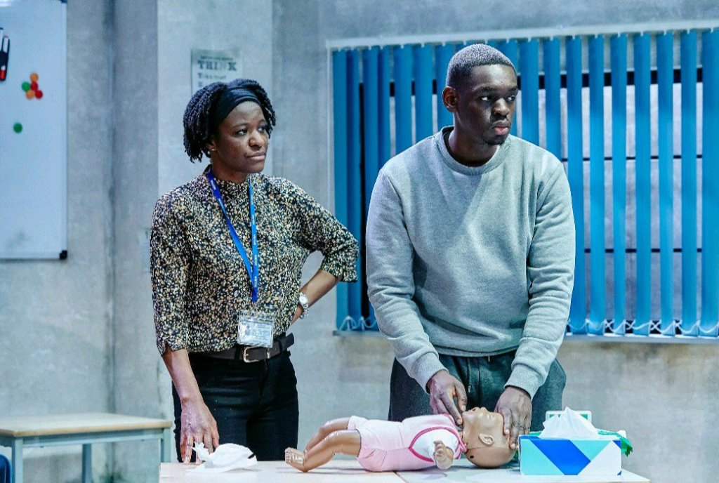 Andrea Hall and Ivan Oyik in Shook