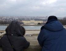 Admiring the city views