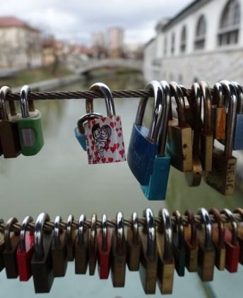 Lovers' locks on Butcher's Bridge