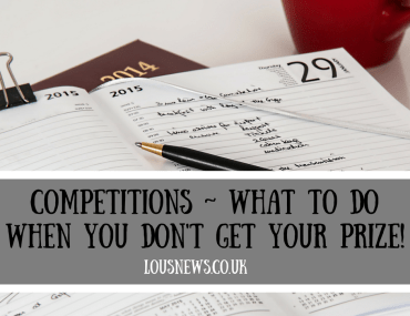 Competitions ~ What to do when you don't get your prize!