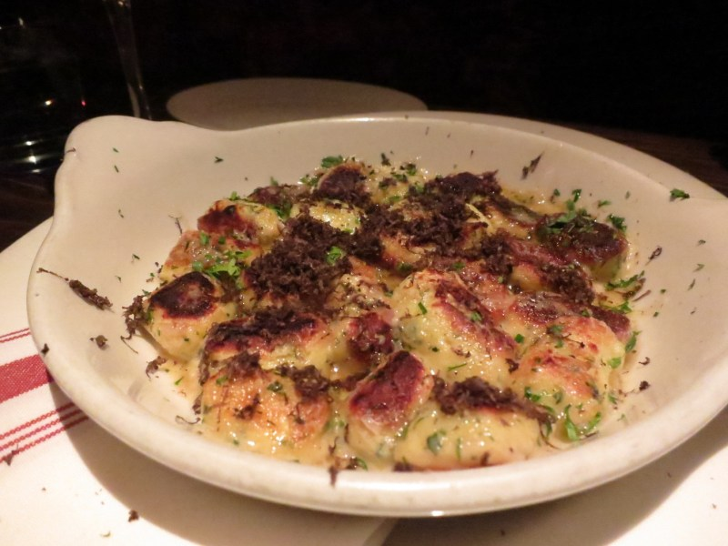Black Truffle Parisian Gnocchi - Comte cheese, fine herbs ($29)