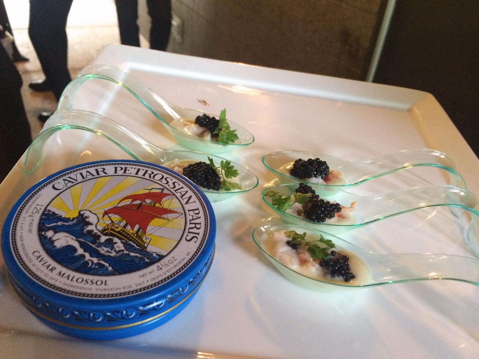Petrossian Caviar, Maine Lobster, Cauliflower Vichyssoise, and Micro Chervil from Chef David Burns
