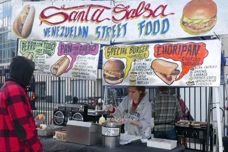 Venezuelan street food at Santa Salsa.