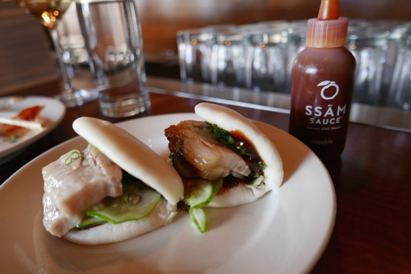Steamed Buns - pork belly, hoisin, cucumber, scallion
