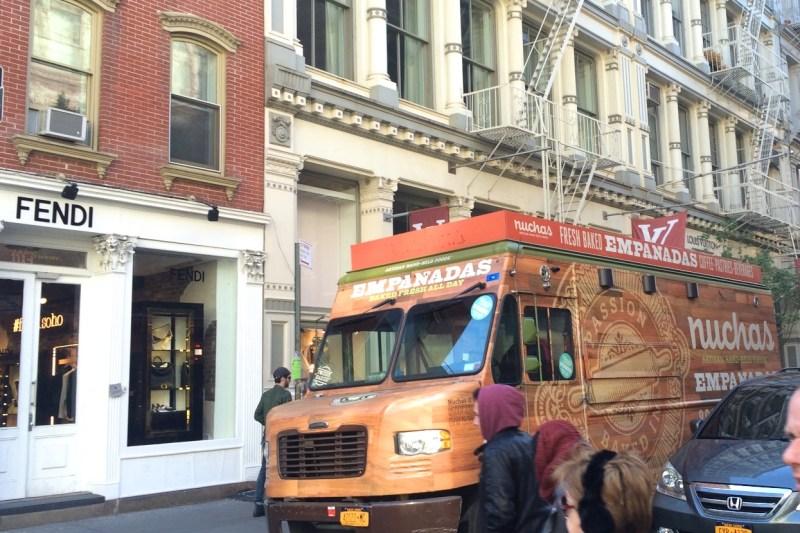 Fendi and food trucks in Soho