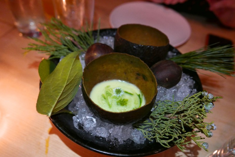 Avocado Gazpacho (Hoja Santa)
