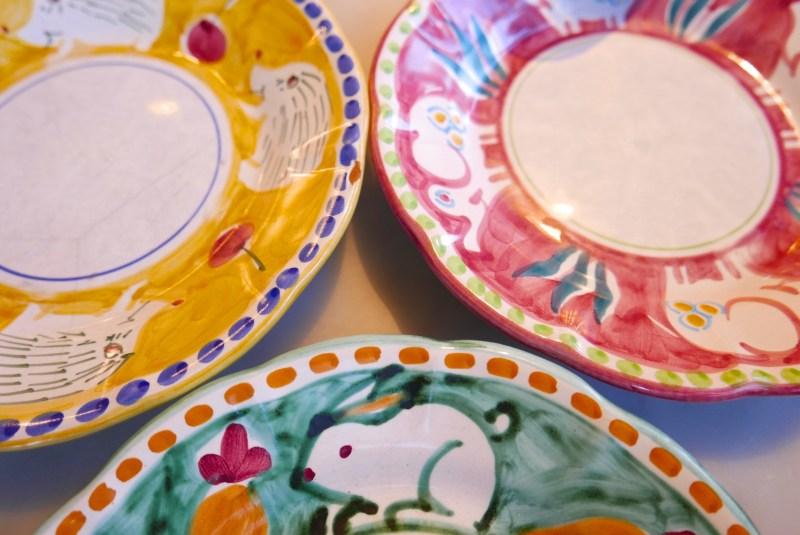 Dessert plates at Santina