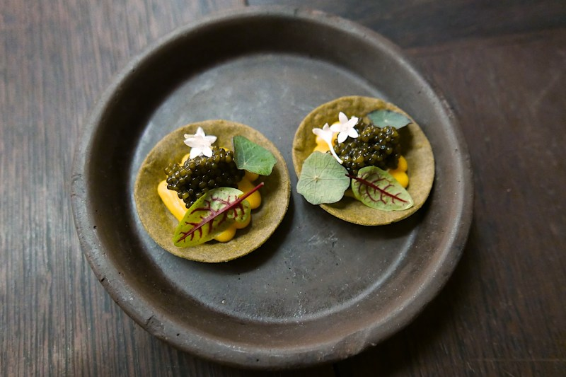 Winter Squash and Caviar Tart