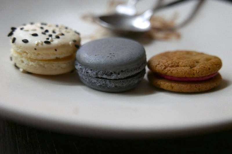 Cookies! Roasted Sesame, Bitter Chocolate, Orange Matcha