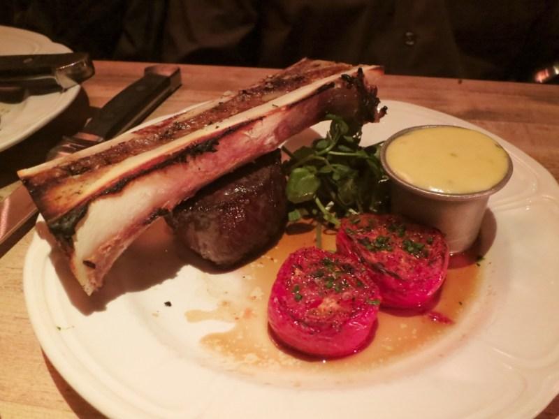 TRADITIONAL FILET MIGNON10oz, au jus, steak salt ROASTED BONE MARROW