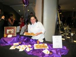 Amerena hazelnut biscotti by Jo-Marie Frigo of Nonna Santi's Biscotti at Grand Chefs Gala Nightcap