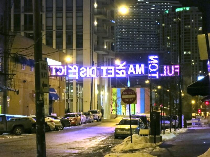 New Fulton Market Square sign