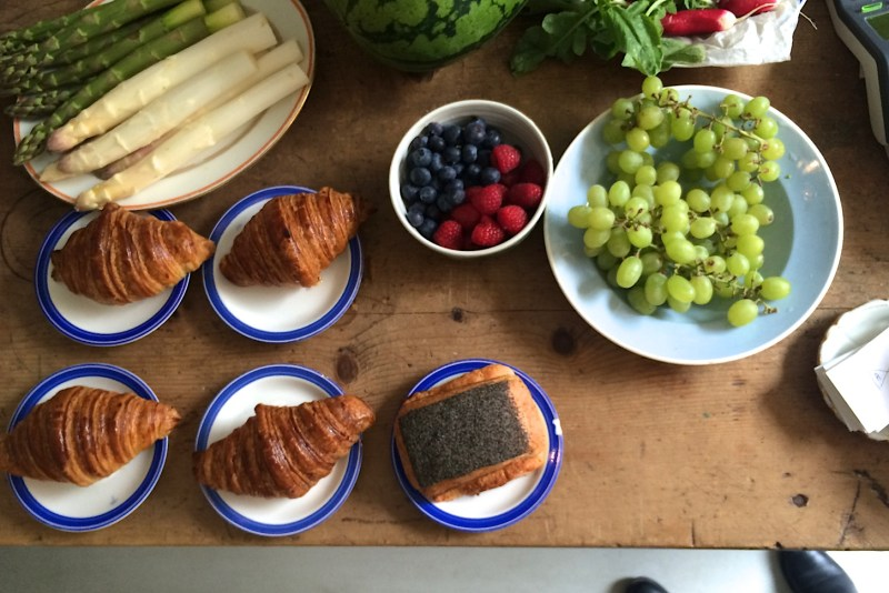 Fresh pastries and produce at Atelier September