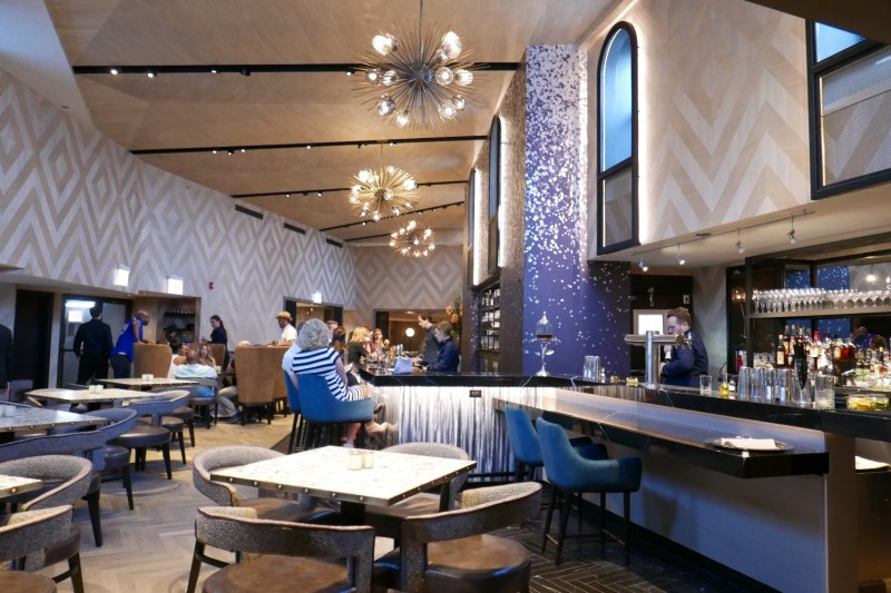 Exclusive in-dome dining takes place in the LH cupola