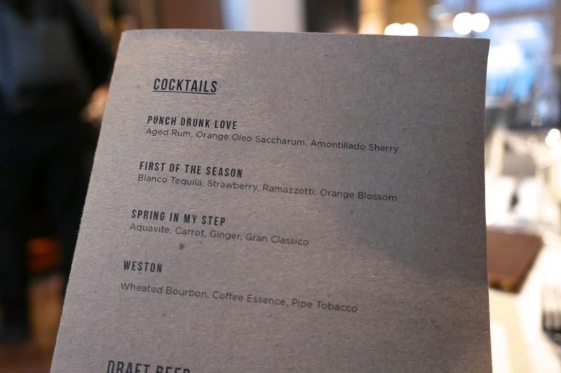 Cocktails at Steadfast