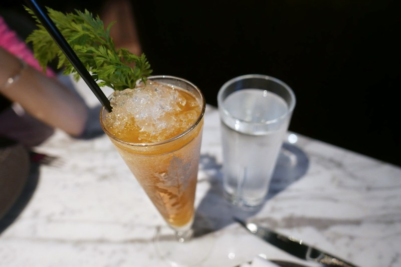 Spring in My Step, Aquavite Vodka, Carrot, Ginger, Gran Classico