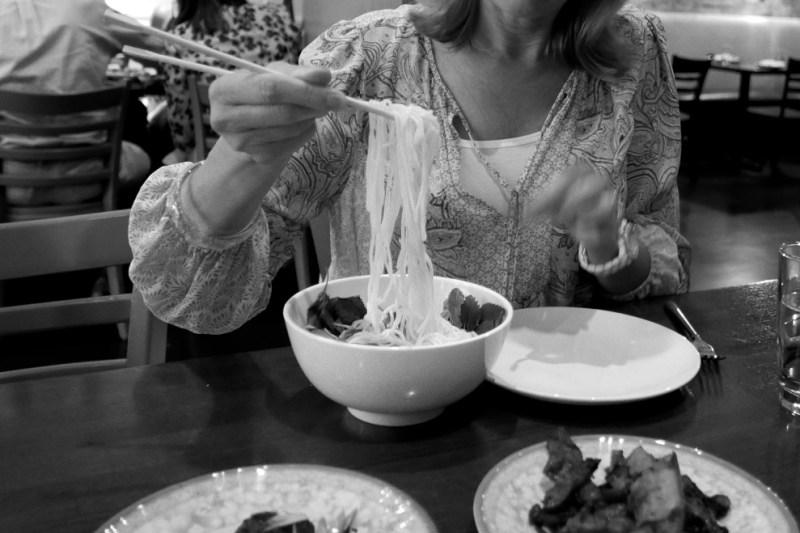Bún Thịt Nướng. Noodles, pork, lettuce, herbs, peanuts