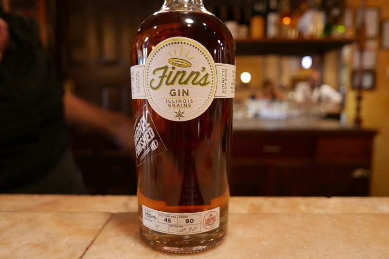 Barrel-finished Finn's Gin made in Chicago